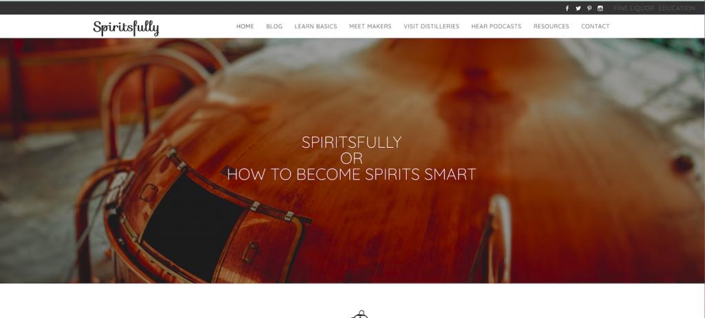 screenhot of spiritsfully website